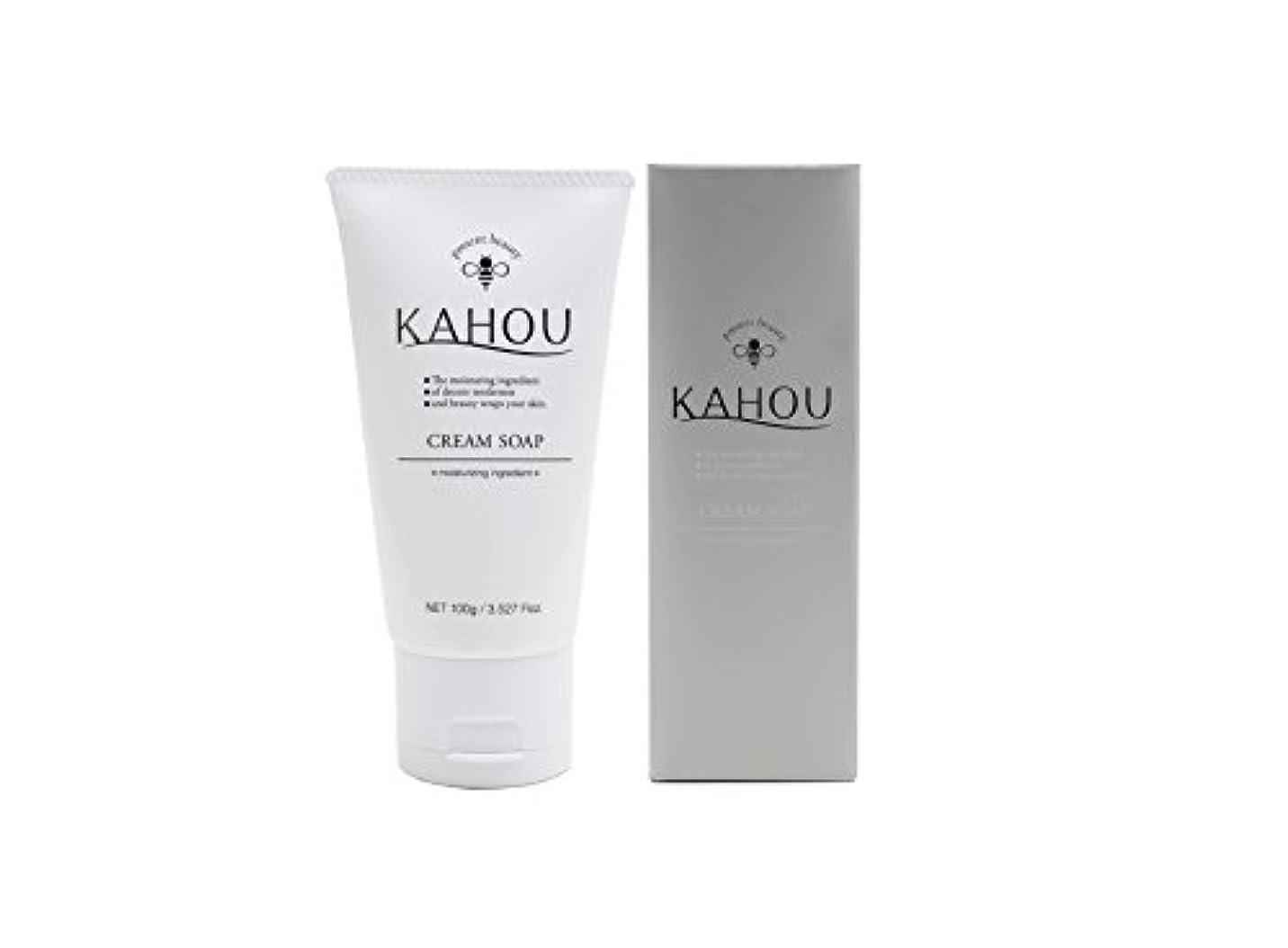 静かに真鍮送金KAHOU はちみつ配合クリームソープ 100g