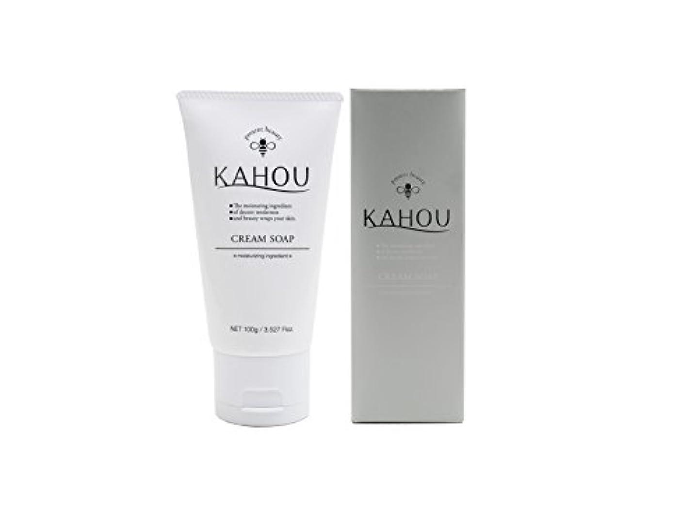 KAHOU はちみつ配合クリームソープ 100g