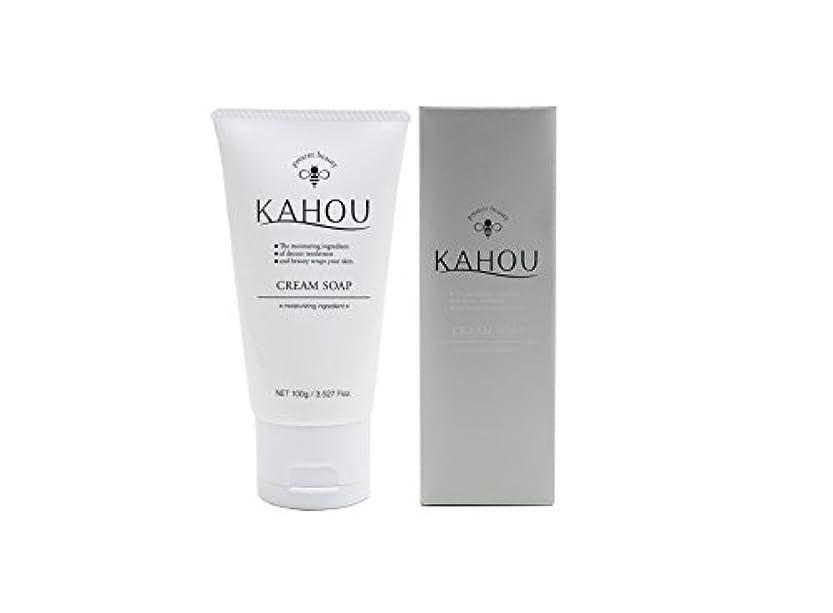 であること風が強い任命KAHOU はちみつ配合クリームソープ 100g