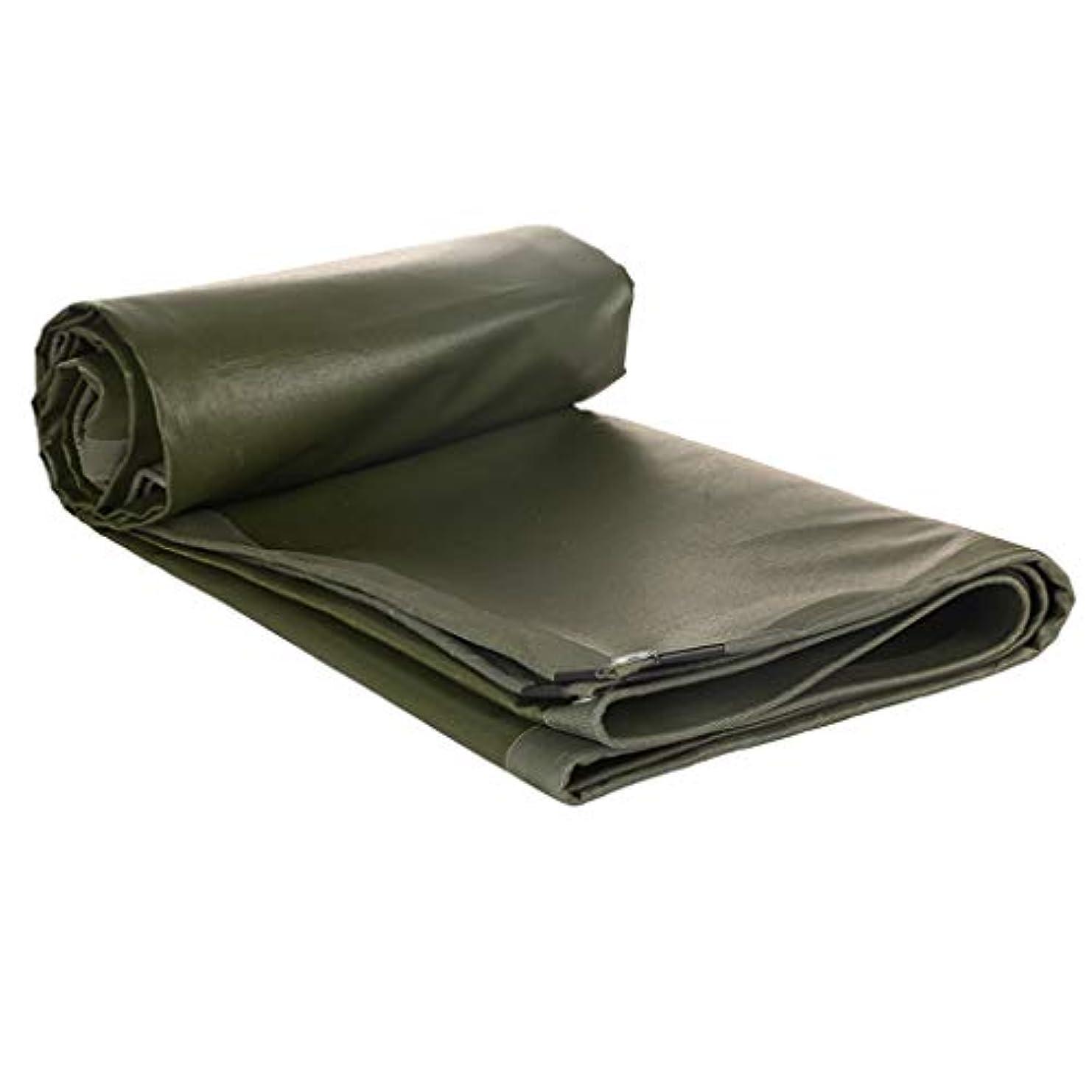 約滴下意図するNwn アイレットが付いている頑丈な防水ターポリン、厚く日焼け止めの防水シートシートの防雨の日除けの小屋の布 - 600g / mの²、緑 (サイズ さいず : 4x6m)