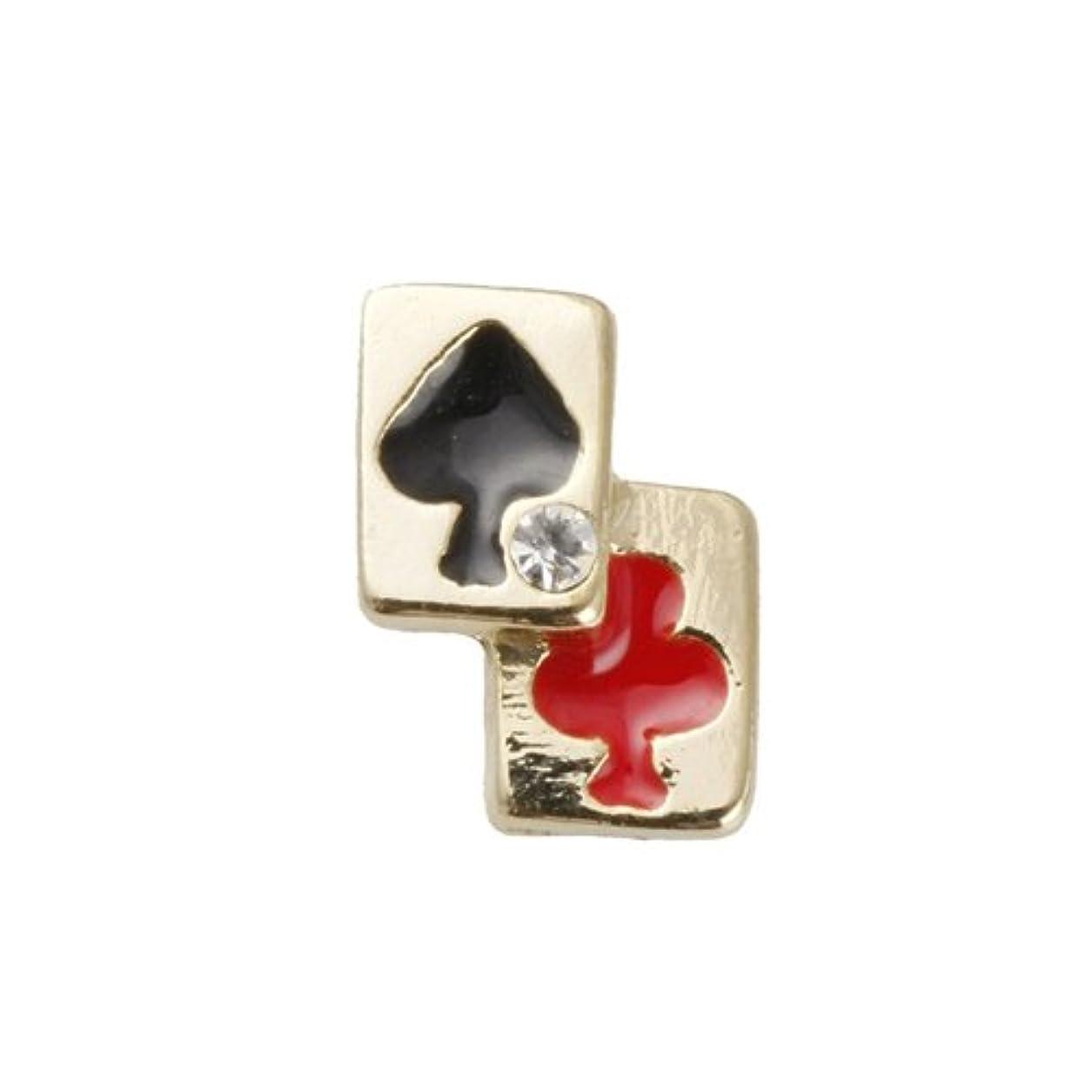 選択協定独創的エムプティ ネイルパーツ ダブルカード スペード A089 1個