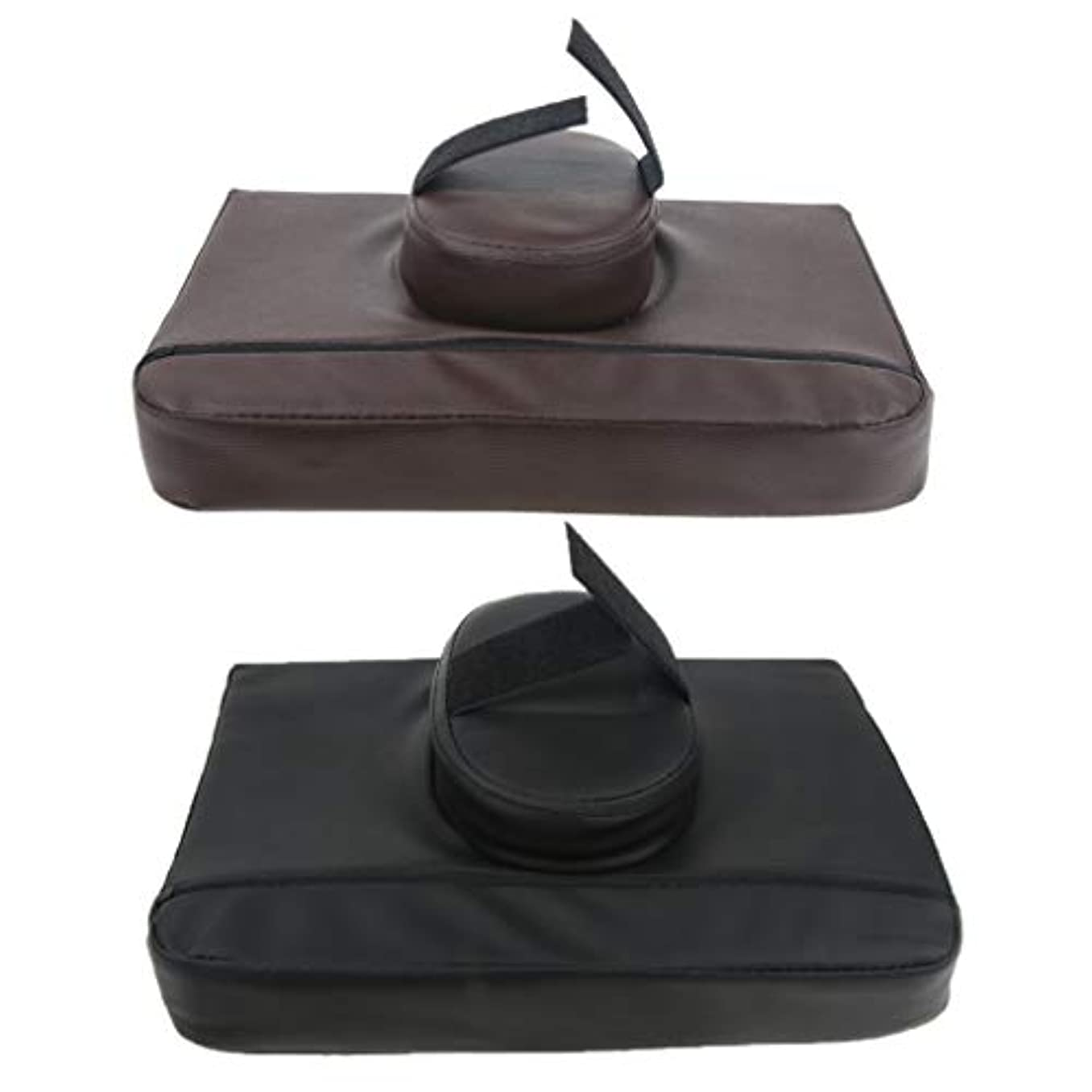 高齢者優雅代わりのマッサージ枕 マッサージピロー スクエア マッサージテーブル用クッション 通気性 快適 実用的 2個