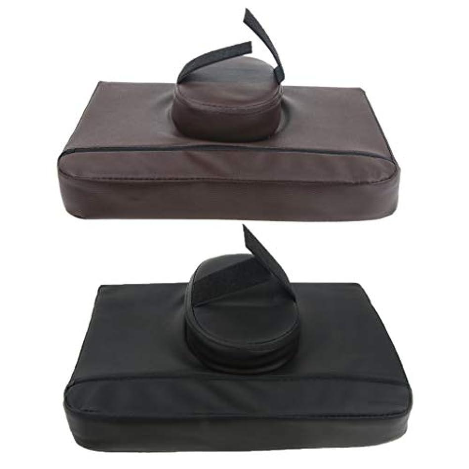 系統的おじさん追い出すマッサージ枕 マッサージピロー スクエア マッサージテーブル用クッション 通気性 快適 実用的 2個