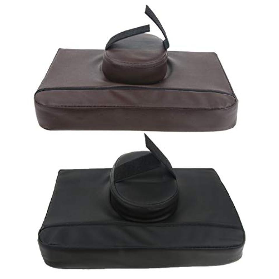 炎上避難観察するマッサージ枕 マッサージピロー スクエア マッサージテーブル用クッション 通気性 快適 実用的 2個