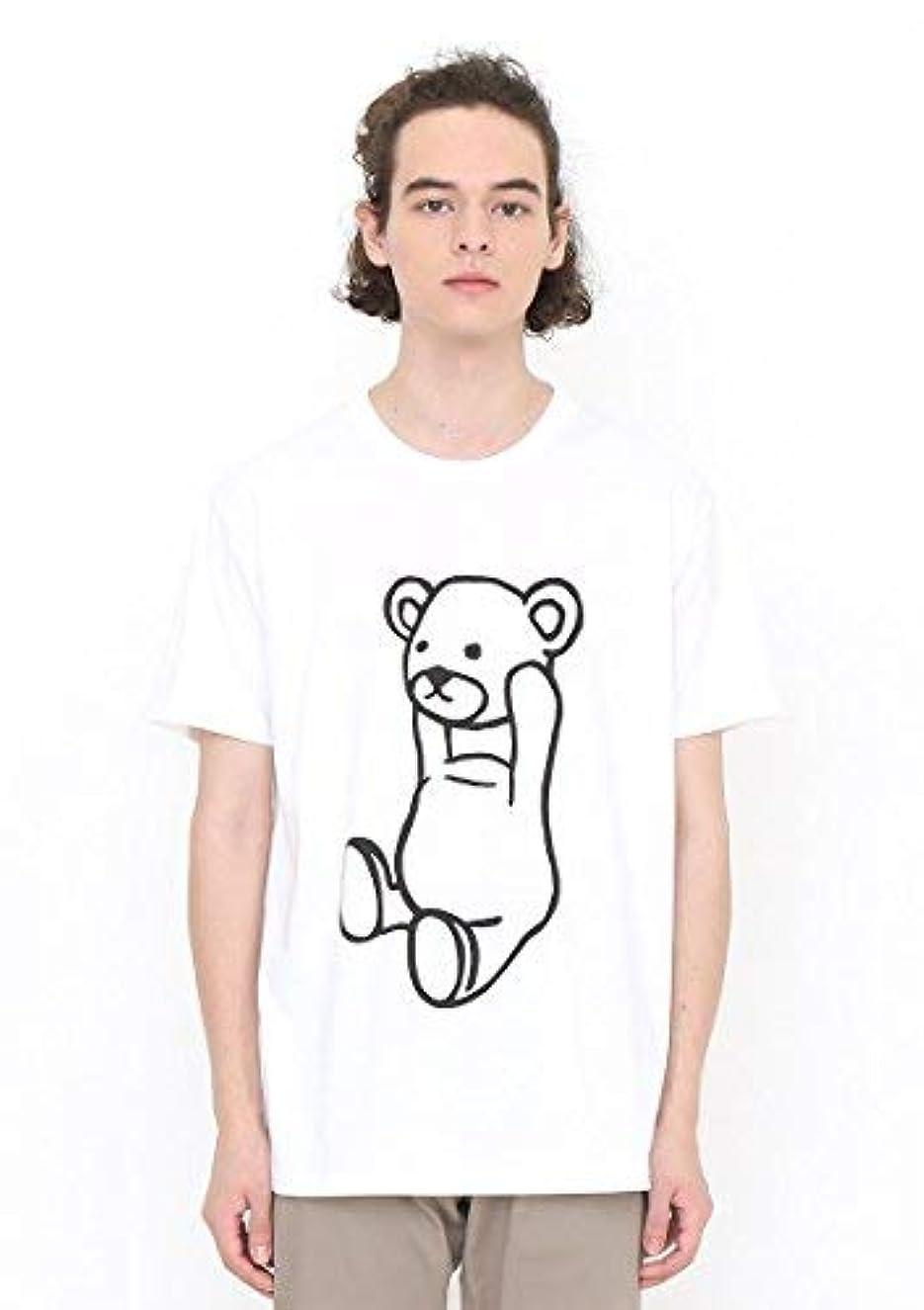暴徒厄介なパネル(グラニフ) graniph ベーシックTシャツ/コントロールベア (ホワイト)