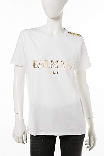 (バルマン) BALMAIN Tシャツ ホワイト レディース (148120 326I) 【並行輸入品】