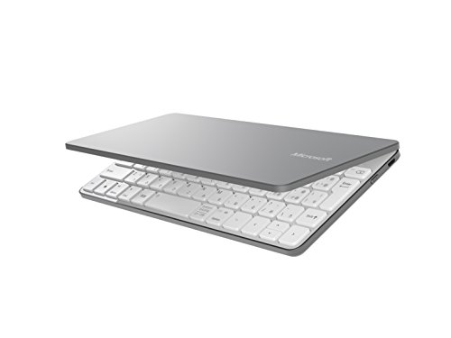 マイクロソフト Bluetoothキーボード Windows/Androidタブレット/iPad, iPhone対応 Universal Mobile Keyboard グレー P2Z-00051