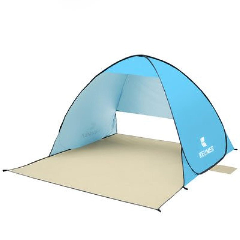 シーボード公式炭素CDKET ビーチテントとキャンプテント、簡単なセッティングとアウトドアポータブルテント、サンシェルター (Color : ブルー)
