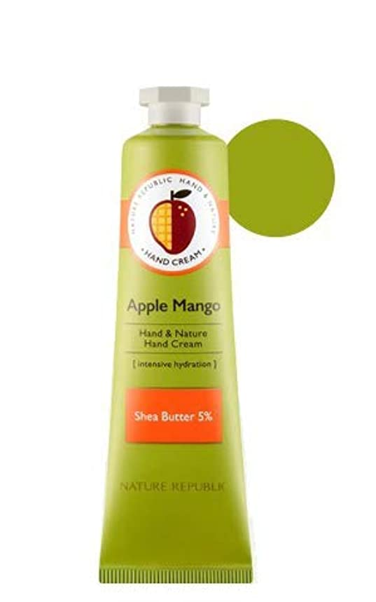 どうやら卵寛大さ[1+1]ネイチャーリパブリック NATURE REPUBLIC ハンドアンドネイチャーハンドクリーム Hand & Nature Hand Cream (# APPLE MANGO) [並行輸入品]
