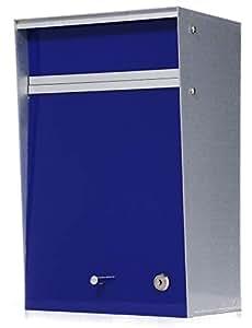 郵便ポスト デザイナーズ A4サイズ対応 (幅26x奥行18x高40cm) [Wall mounted-ウォールマウンテッド-] [MoMA認定品/壁掛け/鍵付き] 全8色 【Box Design 正規品】 ブルー