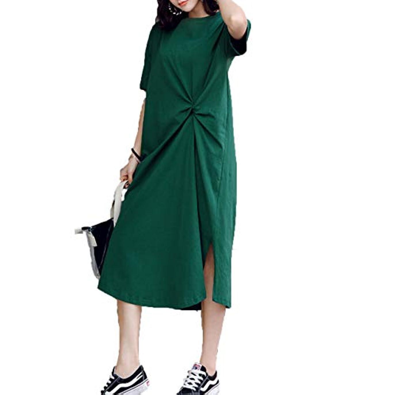 憲法エコー近傍[ココチエ] ワンピース 半袖 ロング 大きいサイズ おおきいサイズ おしゃれ ゆったり 体型カバー