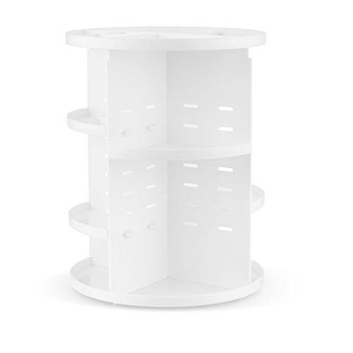 Jerrybox メイクボックス 回転 コスメボックス 化粧品 コスメ 収納 (円形, ホワイト)...
