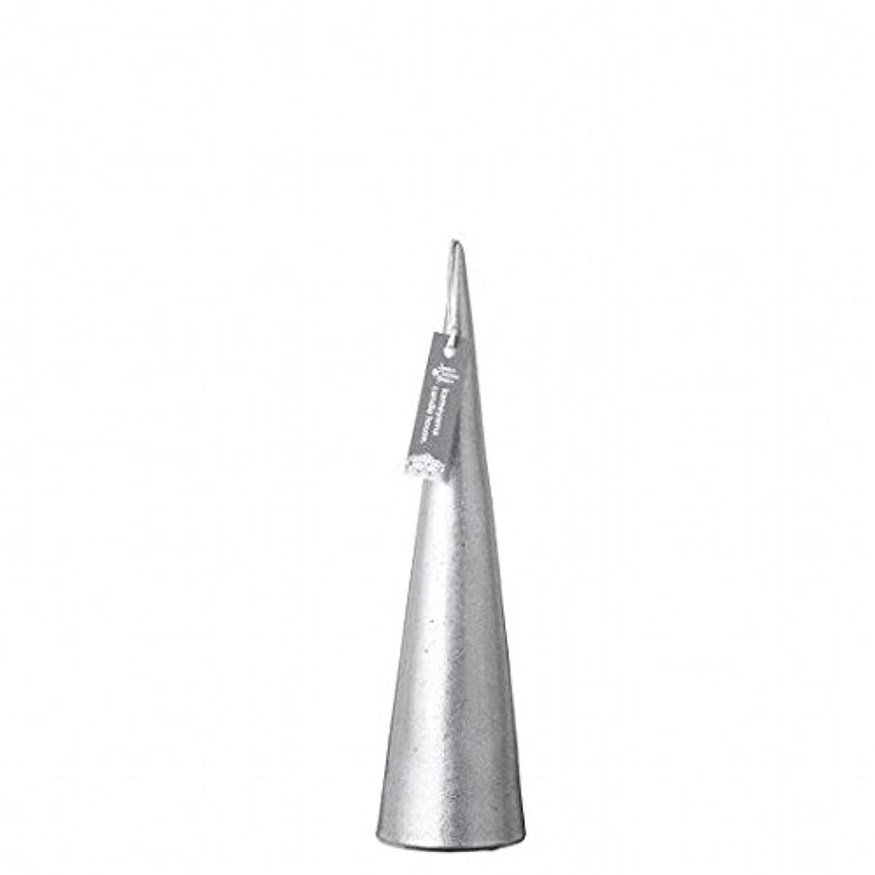 メーカー破裂想像力豊かなkameyama candle(カメヤマキャンドル) メタリックコーンM 「 シルバー 」(A9560110SI)