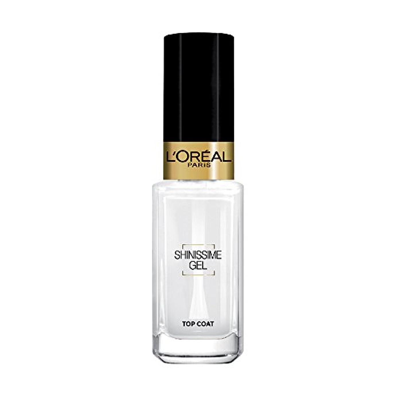 ペフ食い違い受粉者L 'Oréal Paris shinissime Gel Top Coat effekt gel