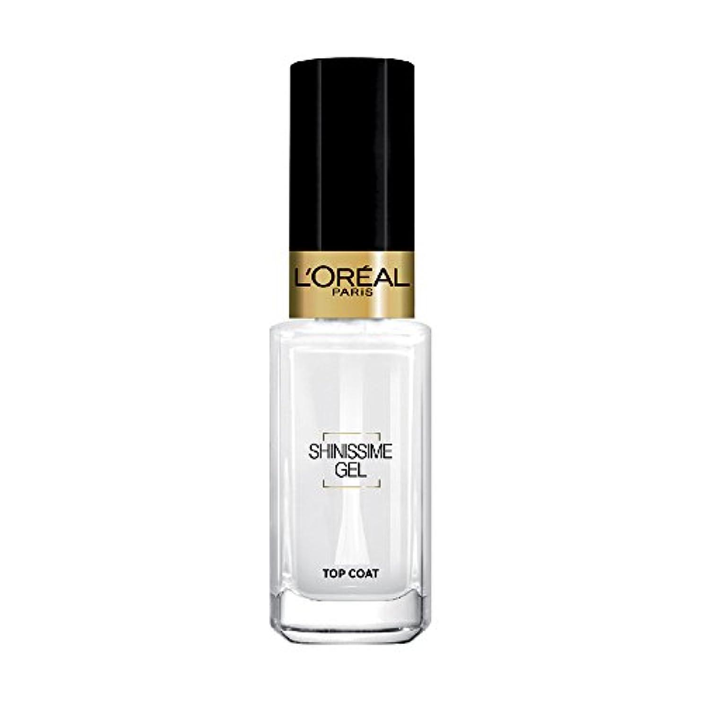 処分した穿孔する大声でL 'Oréal Paris shinissime Gel Top Coat effekt gel