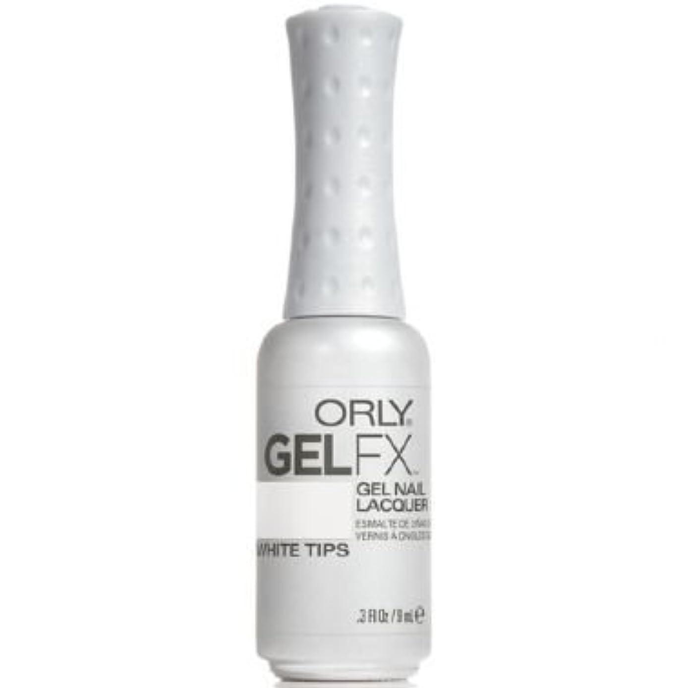 感動する太い固執Orly Gel FX Gel UV Vernis à Ongles/ Gel Polish - White Tips 9ml
