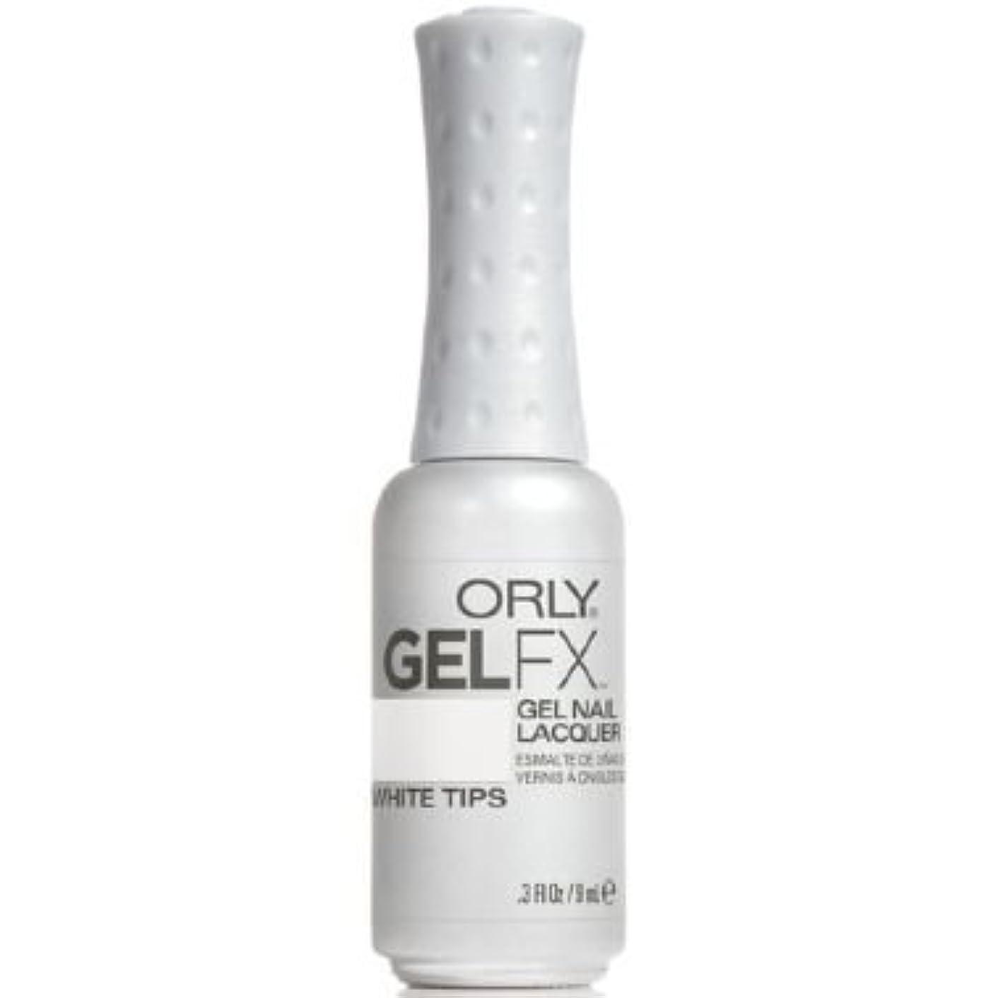 ヘクタール免除する細断Orly Gel FX Gel UV Vernis à Ongles/ Gel Polish - White Tips 9ml