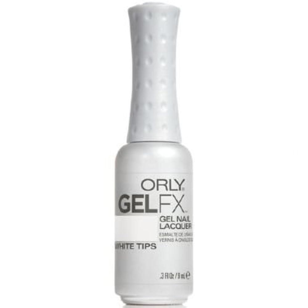 座る画像備品Orly Gel FX Gel UV Vernis à Ongles/ Gel Polish - White Tips 9ml