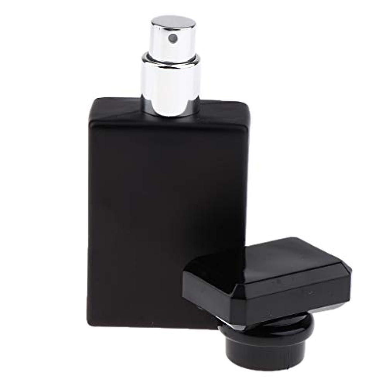 CUTICATE 香水瓶 アロマボトル 香水 小分けボトル ガラス製ボトル 30ミリリットル 全2色選択 - ブラック