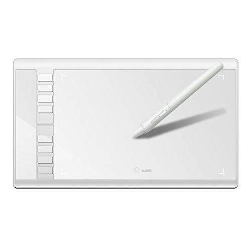 Ugee ペンタブレット m708 お絵描き usb デジタル お絵かき デジタルイラスト タブレット ペンタブ 絵 極薄7.8mm 2048筆圧 傾き感知 10x6インチ フォトショップ illustrator mac windows10/8/7/vista 白