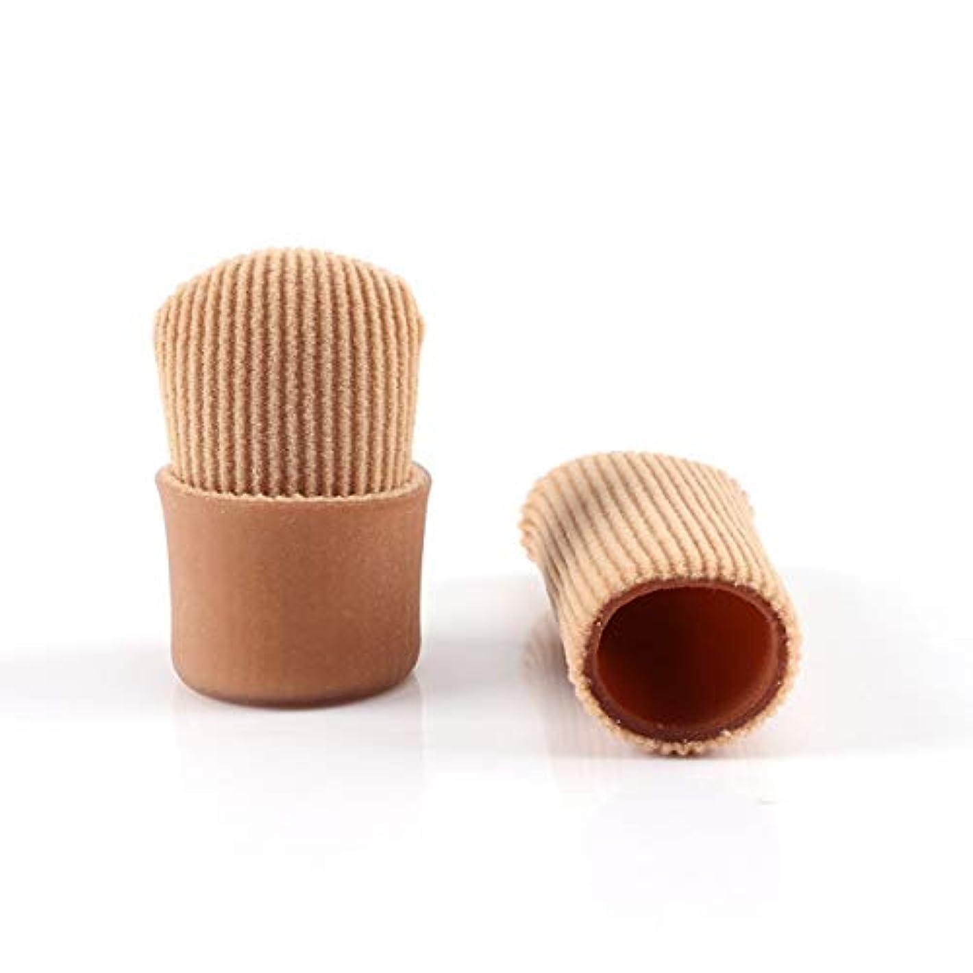 戦闘反乱裁判官Open Toe Tubes Gel Lined Fabric Sleeve Protectors To Prevent Corns, Calluses And Blisters While Softening Soothing...