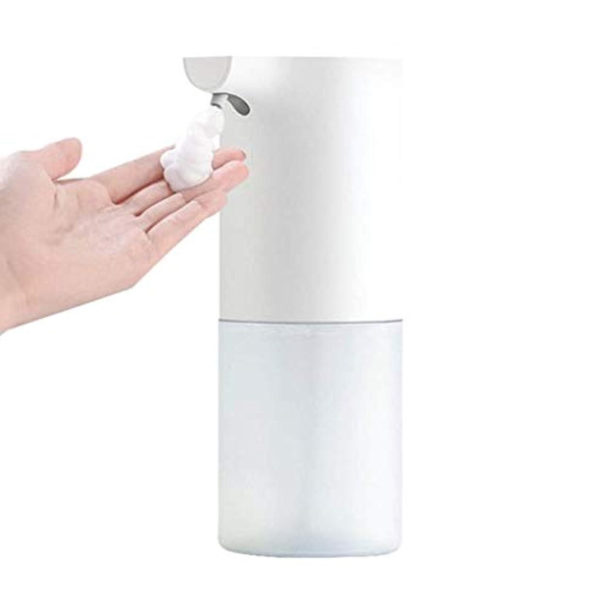 縮れた採用明快誘導接触無料ハンドソープボトル手洗い自動洗濯携帯電話浴室キッチンプラスチック材料ローション(色:白、サイズ:7.3 * 7.3 * 19 cm) (Color : White, Size : 7.3*7.3*19cm)