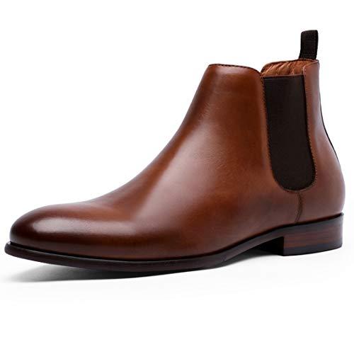 [フォクスセンス] ブーツ ビジネスシューズ チェルシーブーツ サイドゴア ブーツ メンズ 革靴 本革 ブラウン 26.5cm 6781-12