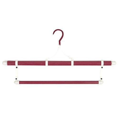 [キョウエツ] ハンガー 日本製 高級 和装ハンガー 折りたたみ式 帯掛け付 伸縮式