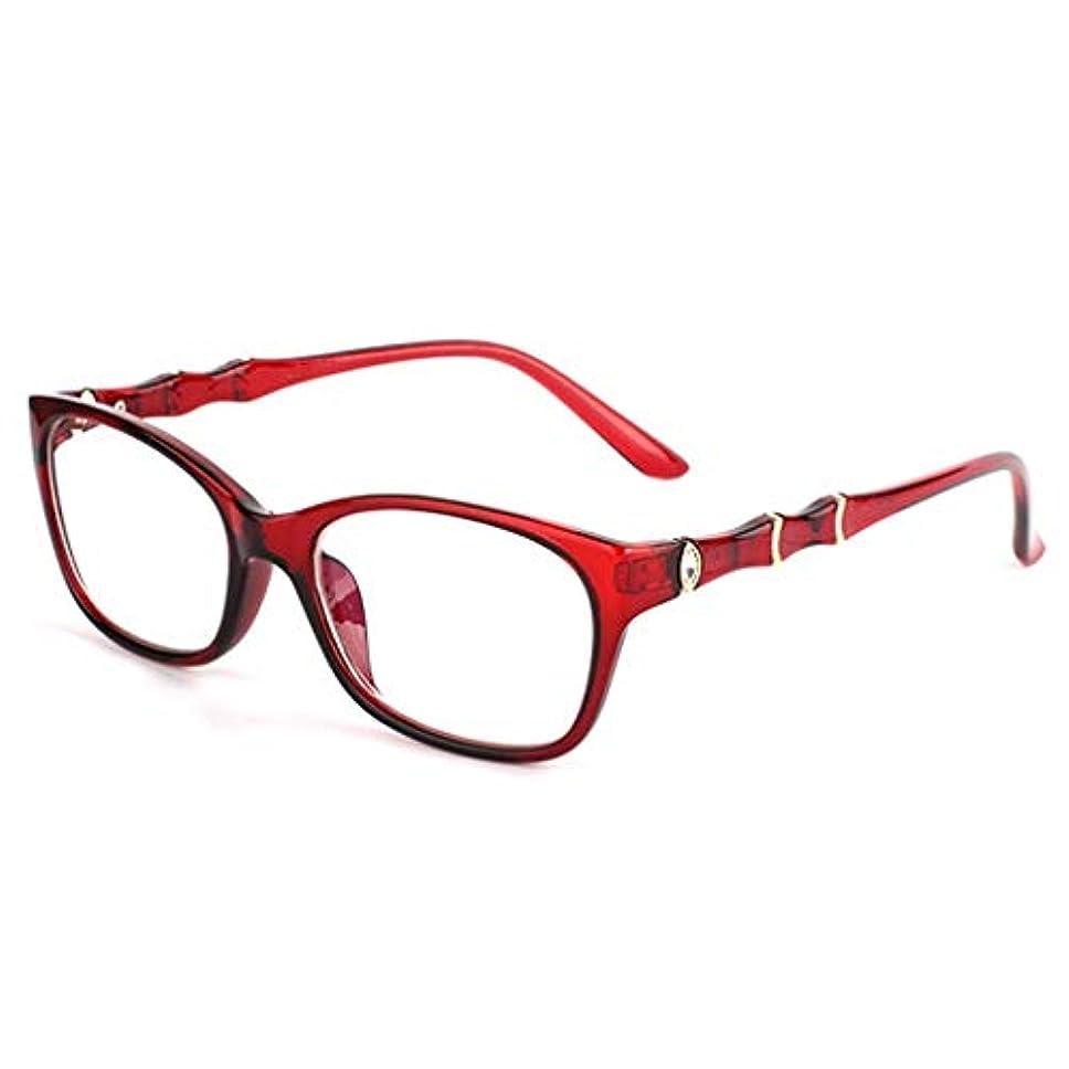 文献謝罪聖なるLCSHAN 大きいフレームの老眼鏡の軽量の方法人そして女性は快適なブルーレイを読みます (Color : Red, Size : 100 degrees)