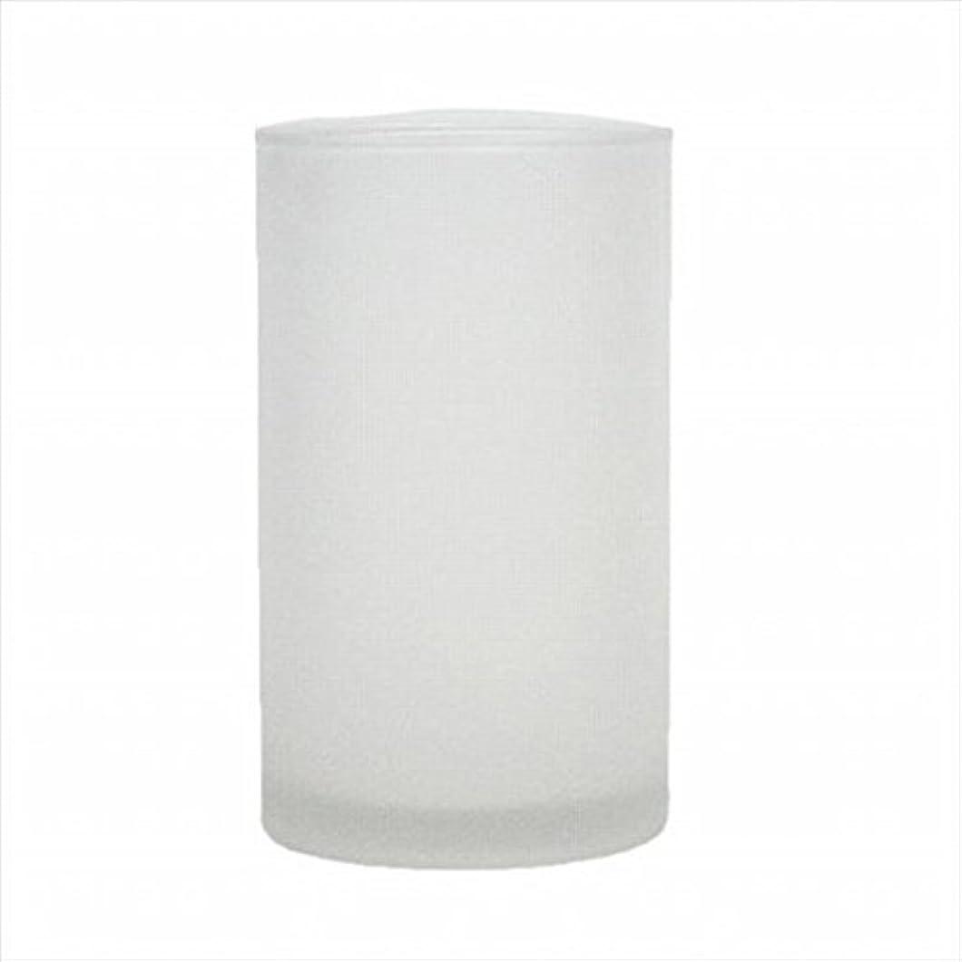 参加者目覚める暗いkameyama candle(カメヤマキャンドル) モルカグラスSフロスト キャンドル 90x90x155mm (65980000)