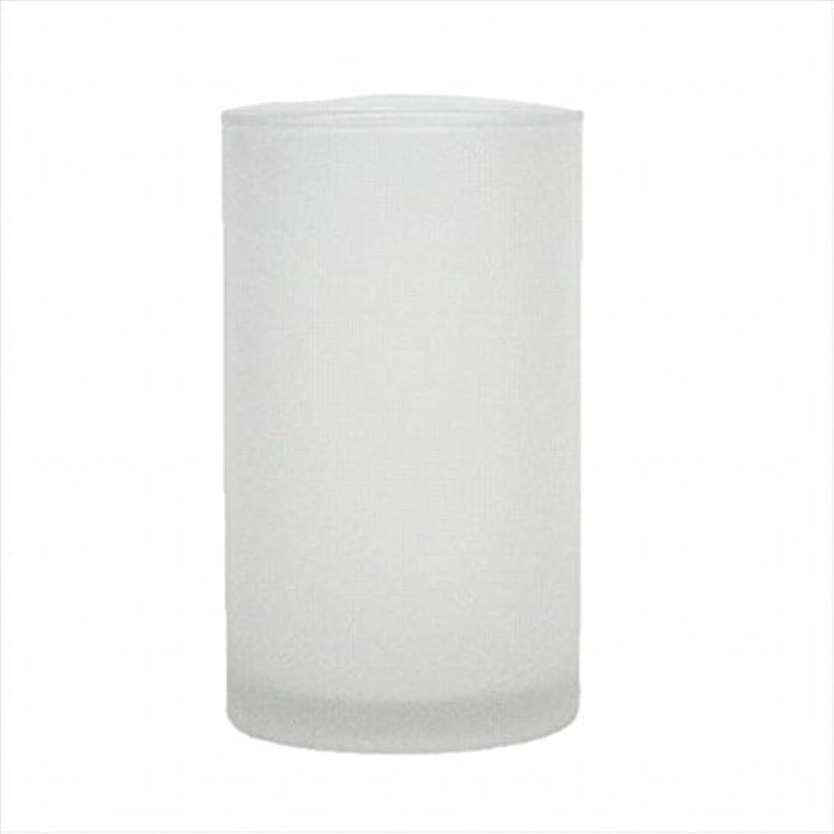 パッケージ研究回転するkameyama candle(カメヤマキャンドル) モルカグラスSフロスト キャンドル 90x90x155mm (65980000)
