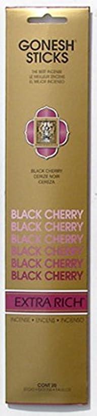 カラス施設追加GONESH インセンス エクストラリッチ スティック BLACK CHERRY 20本入