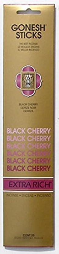にもかかわらず永遠の解くGONESH インセンス エクストラリッチ スティック BLACK CHERRY 20本入