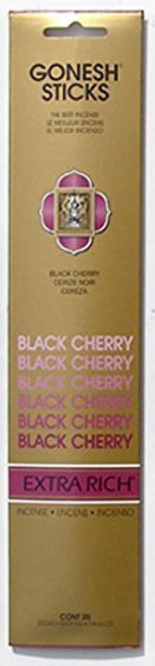 ダイヤル勇気のあるアフリカ人GONESH インセンス エクストラリッチ スティック BLACK CHERRY 20本入