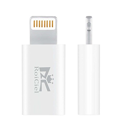 【改善版】RoiCiel(ロイシエル) Lightning to Micro USB Adapter 8pin Lightning 変換コネクタ