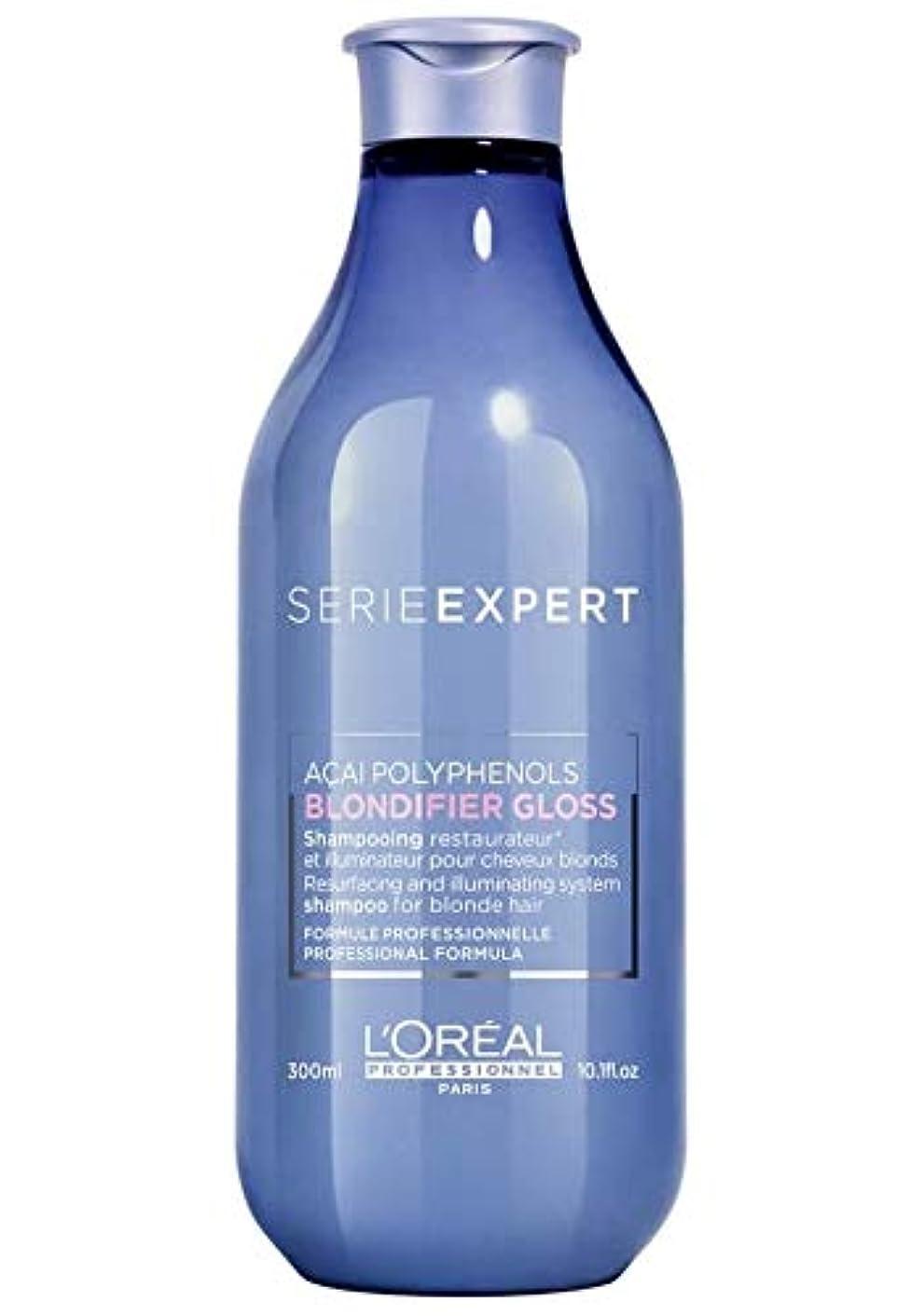 式ボタンピンロレアル セリエ エクスパート ブロンディファイア グロス シャンプー L'Oreal Serie Expert Blondifier Gloss Shampoo 300 ml [並行輸入品]