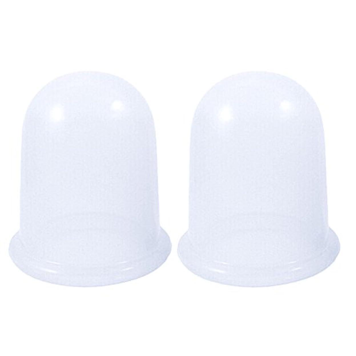 結晶形状難民B-PING シリコンカッピング 吸い玉 2点セット いつでも清潔に使用可能 デトックス ダイエット 腰痛 肩こり ツボ押し マッサージ 脂肪吸引 血流促進 自宅エステ 吸引エステ  (透明)