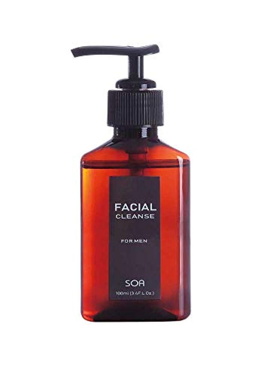 役立つアクセシブル効能あるソア フェイシャルクレンズ メンズ 洗顔料 100ml