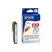 (業務用セット) エプソン(EPSON)対応 インクカートリッジ ライトシアン 1個 型番:ICLC70 【×5セット】 ds-1642222