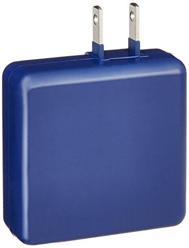 エレコム スマホ・タブレット用AC充電器 iPhone&android対応 2台同時急速充電 USB2ポート付(合計2A) ブルー MPA-ACUA0020BU