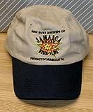 ヘッドポーター Mad川Brewing CompanyジャマイカブランドFine Ales調節可能なストラップバック刺繍フロッピースタイル釣り帽子–カーキwith NavyブルーBill