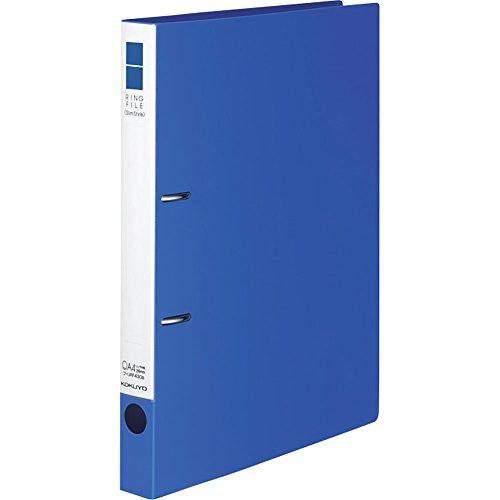 コクヨ ファイル リングファイル スリムスタイル PPシート表紙 A4 220枚 青 フ-URF430B