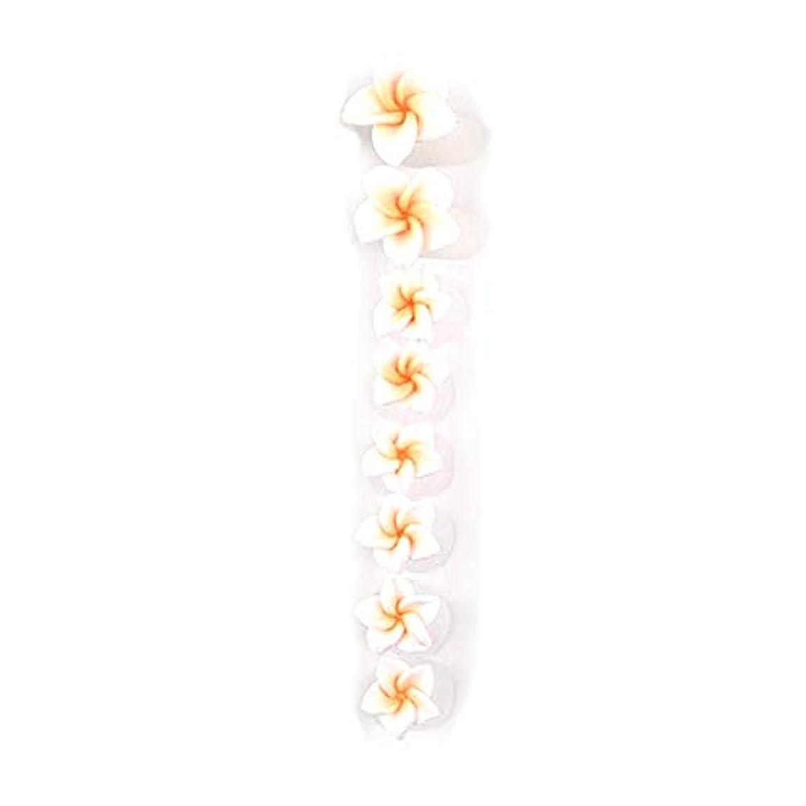 集中年金細断8ピース/セットシリコンつま先セパレーター足つま先スペーサー花形ペディキュアDIYネイルアートツール-カラフル01#