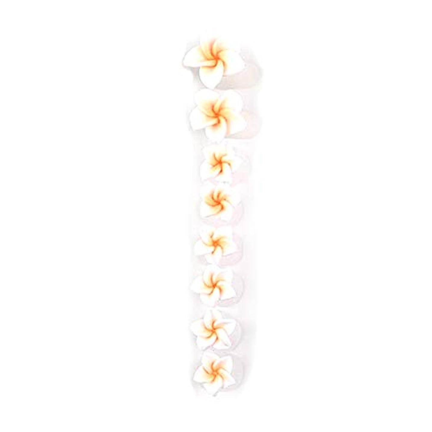 オレンジ正統派不一致8ピース/セットシリコンつま先セパレーター足つま先スペーサー花形ペディキュアDIYネイルアートツール-カラフル01#