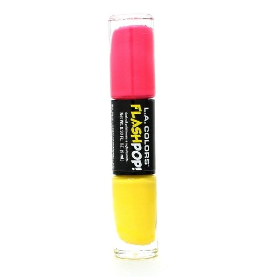 再生可能ミニチュアアウトドア(3 Pack) LA COLORS Flash Pop! Polish - Vivid (並行輸入品)