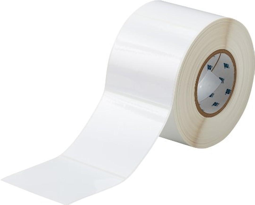 文言ノイズ過敏なBrady THT-161-483-1 4 Width x 4 Height B-483 Polyester Gloss Finish White Thermal Transfer Printer BradyBondz Label (1000 per Roll) [並行輸入品]