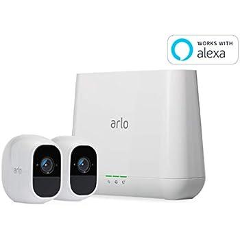 【Works with Alexa認定製品】Arlo Pro 2 ネットワークカメラ ワイヤレス スマホ 防犯 屋外 防水 動体検知 カメラ2台セット VMS4230P-100JPS