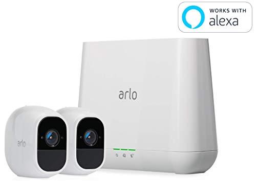 【Works with Alexa認定製品】Arlo Pro 2 - カメラ2台セット 防犯 動体検知 ワイヤレス ネットワークカメラ 防水 配線工事不要 スマホ 屋外 (VMS4230P)