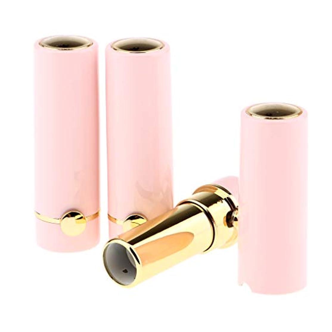 職業横たわる浅いP Prettyia 3本 空の口紅容器 DIYリップクリームチューブ グロスボトル 詰替え容器 全3色 - ピンク