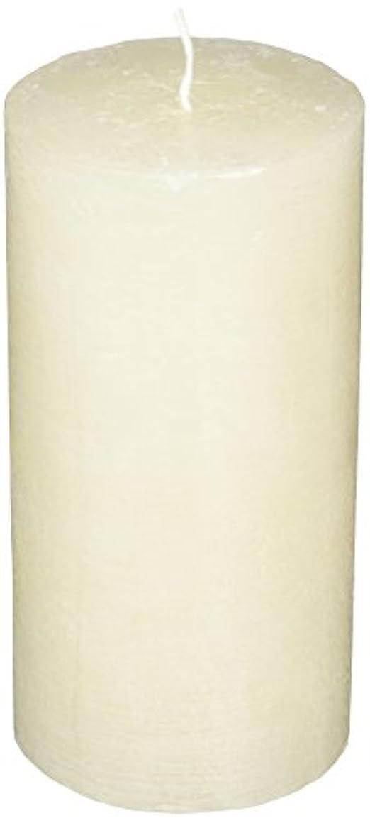 平方繁雑生産的ラスティクピラー3×6 「 シルキーホワイト 」 キャンドル A4890020SWH